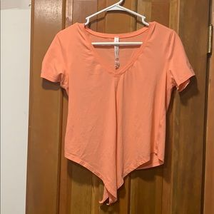 Lululemon coral love crop tee